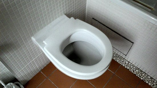 Hotel Residence Quintinie: Broken toilet seat