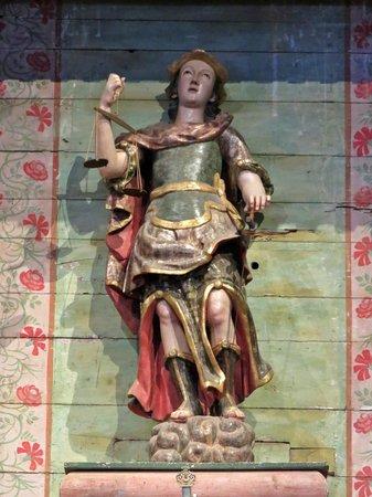 Statue Of Saint Michael The Archangel Altar Mission San