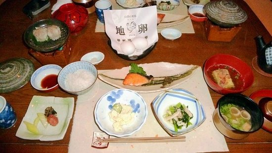 Onsenji Yumedono Ryokan: Breakfast served in room (10/2013)