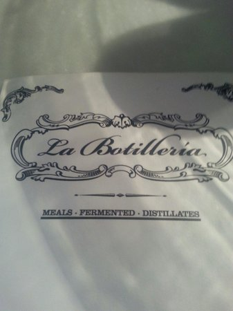 La Botilleria : They have both a English and a Spanish menu