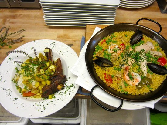 The Village Table: Lamb Shank and Seafood Paella