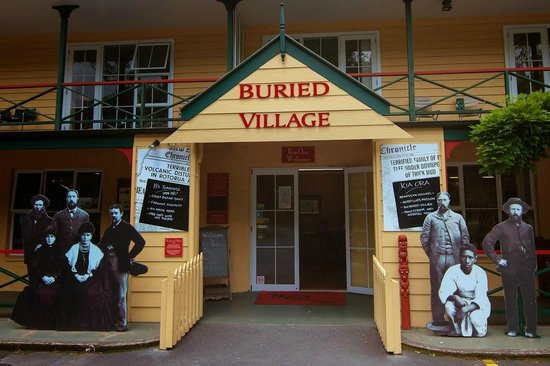 Buried Village of Te Wairoa: Entrance to the Buried Village.