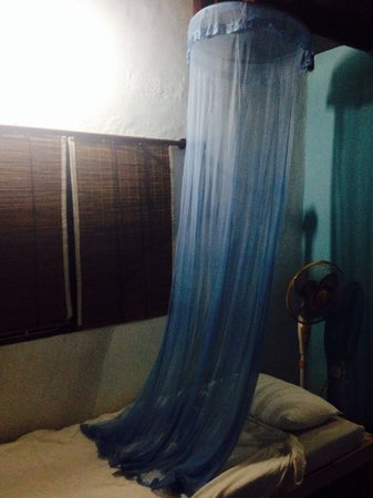 Full Moon Resort: Inappropriately sized mosquito net