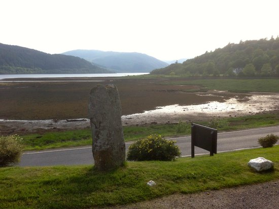 The Strontian Hotel: Loch Sunart from the door of the hotel