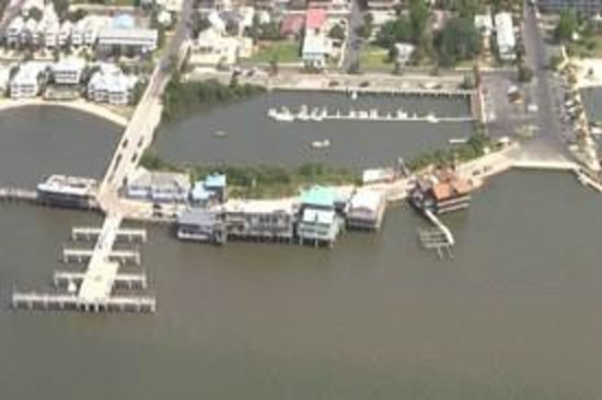 Cedar Key Harbour Master Suites: View from above.