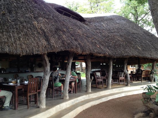 The Wildlife Camp: Scenic restaurant - the best food this side of Africa!