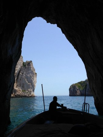 Gianni's Boat : View from inside a cave