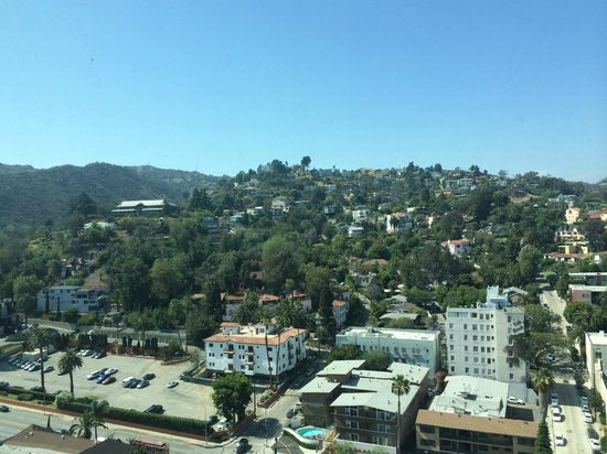 Loews Hollywood Hotel: deluxe view (Hollywood sign to the right)