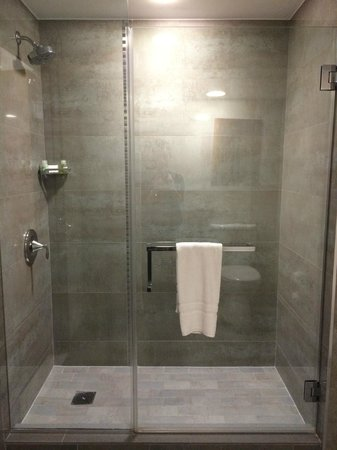 Loews Hollywood Hotel: Large shower in the junior suite