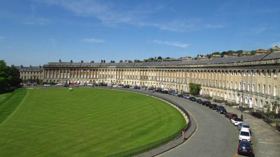 No. 1 Royal Crescent: Royal Crescent, Bath, viewed from Number One.