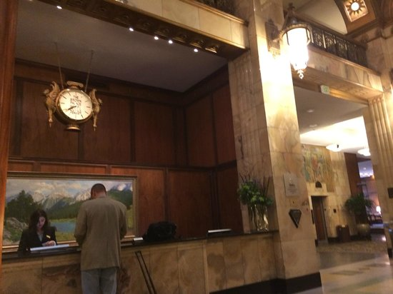 The Brown Palace Hotel and Spa, Autograph Collection: Clock at check in desk
