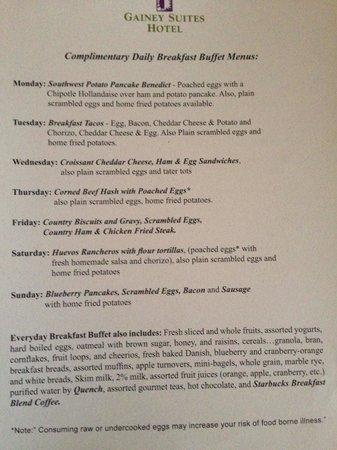 Gainey Suites Hotel: Wonderful breakfast
