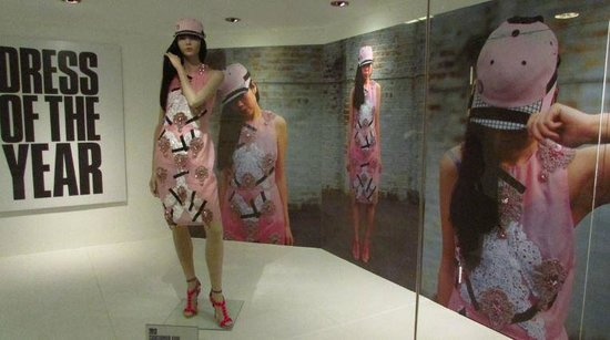 Fashion Museum Bath: 2013 Dress of the year, by Christopher Kane.