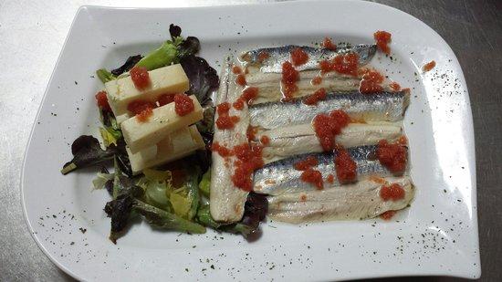 Restaurante El Palco: Lomos de sardina con queso
