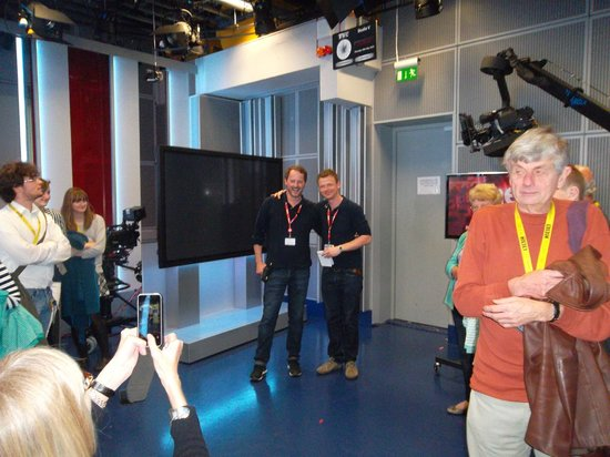 BBC Broadcasting House: Our guides for the tour - really great guys.