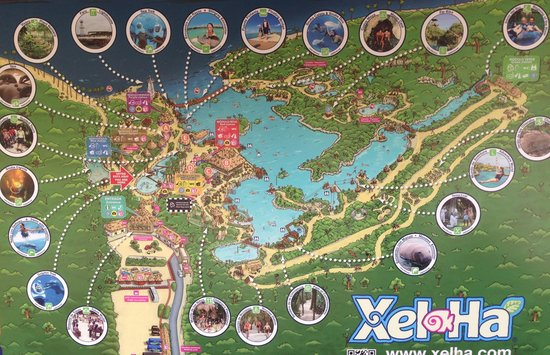 Parc Xel-Ha : Mapa del Parque