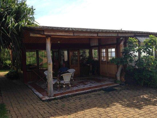 Cabanas Pikera Uri: Varanda da área de alimentação - Hotspot wi-fi