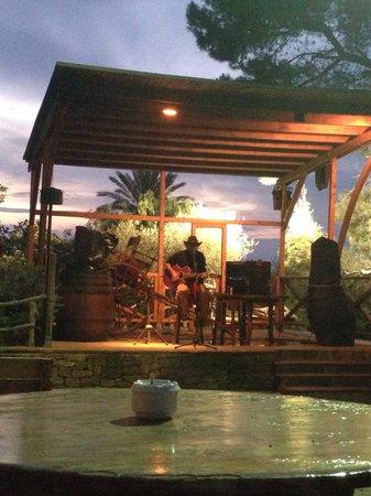 Rancho Grande Park: Staff member singing