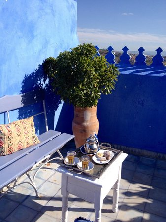 Casa Perleta : Petit thé sur la terrasse