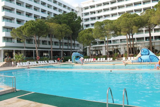 Grand Efe Hotel: the view from the swimming pool