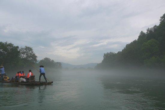 Bamboo Raft Drift : 筏下りの様子