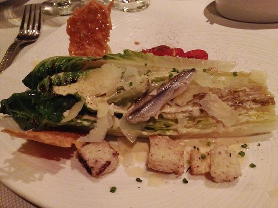 Old Hickory: Caesar salad, delicate anchovy flavor