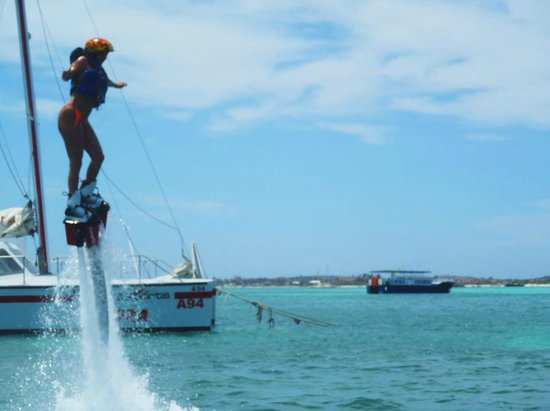 Hyatt Regency Aruba Resort and Casino: If you are adventurous I highly recommend fly boarding!!!