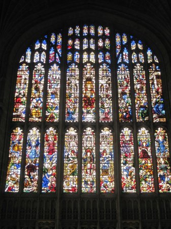 King's College Chapel : Main stained glass window at the alter
