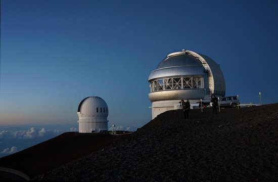 Mauna Kea Summit Adventures: A couple of the observatories up top.