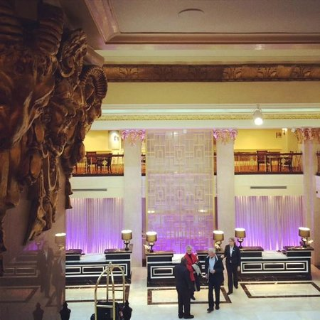 The Mayflower Hotel, Autograph Collection: Reception area from the mezzanine