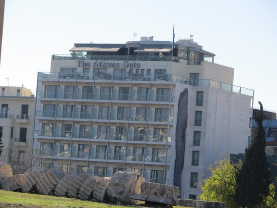 The Athens Gate Hotel: Hotel from Temple of Zeus