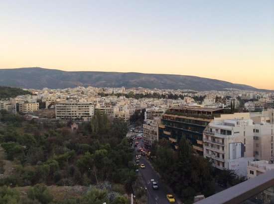 The Athens Gate Hotel: View from restaurant balcony