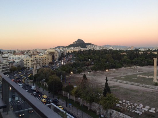 The Athens Gate Hotel: View from my room toward Parliament