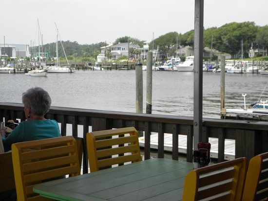 Fishy Fishy Cafe: View from o/s tables