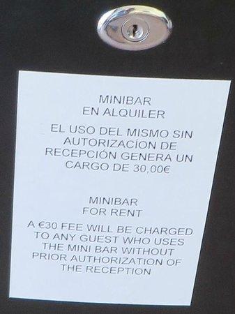 Hotel Lima Marbella: Minibar