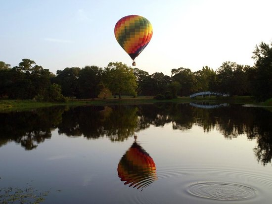 BlissWood Bed and Breakfast Ranch: Book a hot air balloon ride
