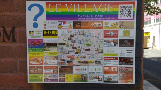 Gay Village: Map of the area