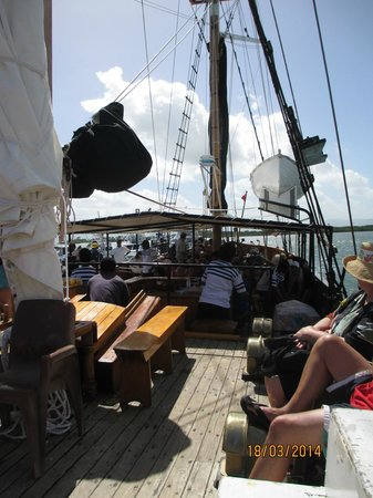 Captain Cook Cruises - Fiji Day & Dinner Cruises : on board