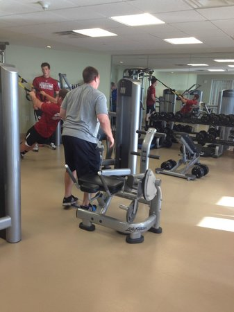 Hyatt Regency Clearwater Beach Resort & Spa: the gym - rather small but in an obese nation I guess nobody cares