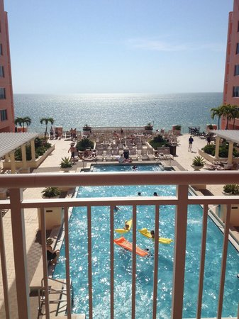 Hyatt Regency Clearwater Beach Resort & Spa: 10th floor suite balcony- faces the pool and the beach