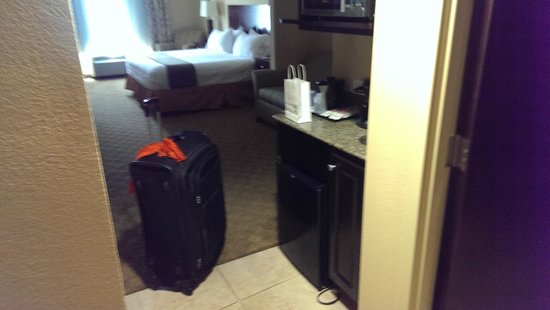 Holiday Inn Express & Suites Tampa USF-Busch Gardens : Entrance to the room
