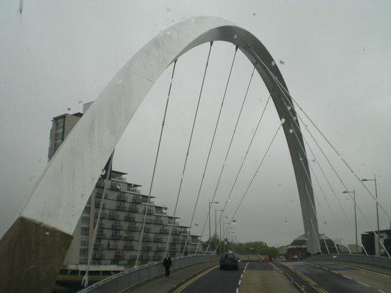 Another view of the Clyde Arc Bridge