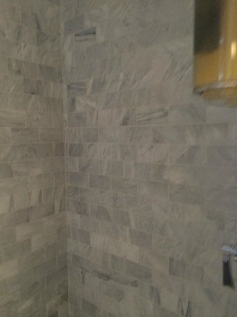 Vagabond's House Inn: Perfectly luxurious and ornate marble tiles in shower