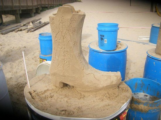 Sandcastle Lessons: Cowboy boot by the girls
