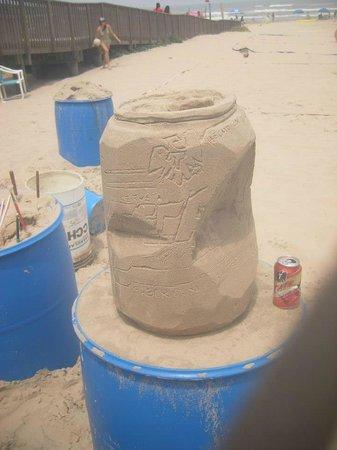 Sandcastle Lessons: Crushed beer can - team effort