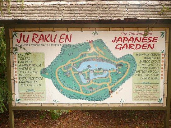 Japanese Garden: Map of the garden.