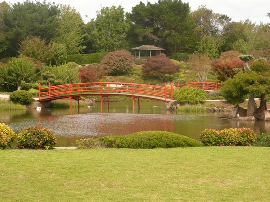Japanese Garden: A view of the lake.