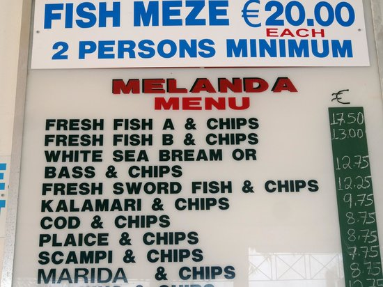 Melanda Beach Restaurant : and chips and chips and chips.......