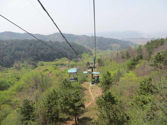 Chengde Qingchui Mountain (Hammer Rock): The Lift going back down