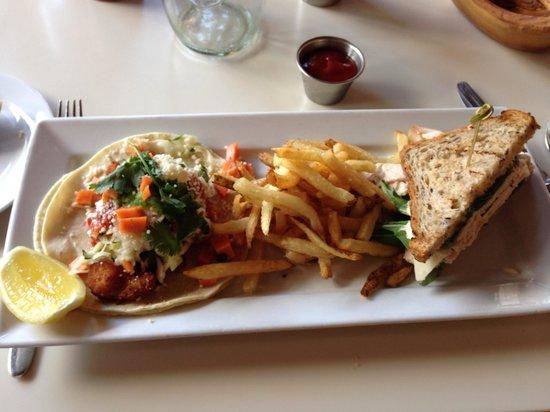 Cookshop: Crunchy fish tacos and turkey sandwich